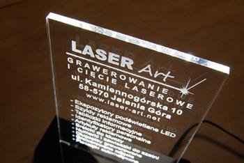 Tabliczka reklamowa podświetlana diodami LED